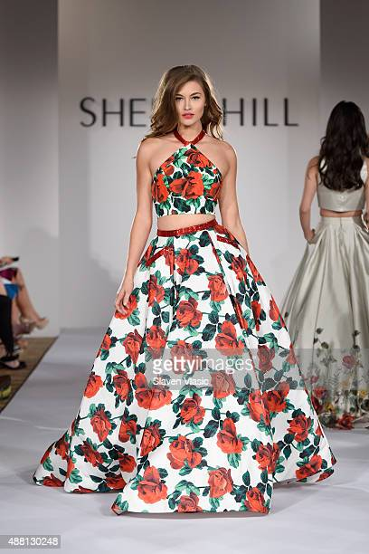 Model Grace Elizabeth walks the runway at the Sherri Hill Spring 2016 fashion show during New York Fashion Week at The Plaza Hotel on September 13...