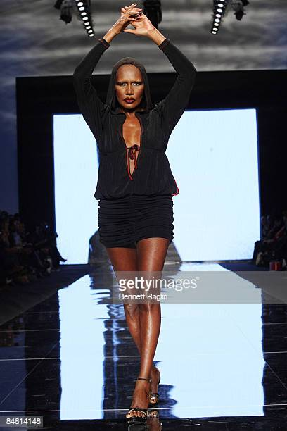 Model Grace Jones wearing Xuly Bet This Day/Arise Magazine's African Fashion Collective 2009 during MercedesBenz Fashion Week at The Promenade in...