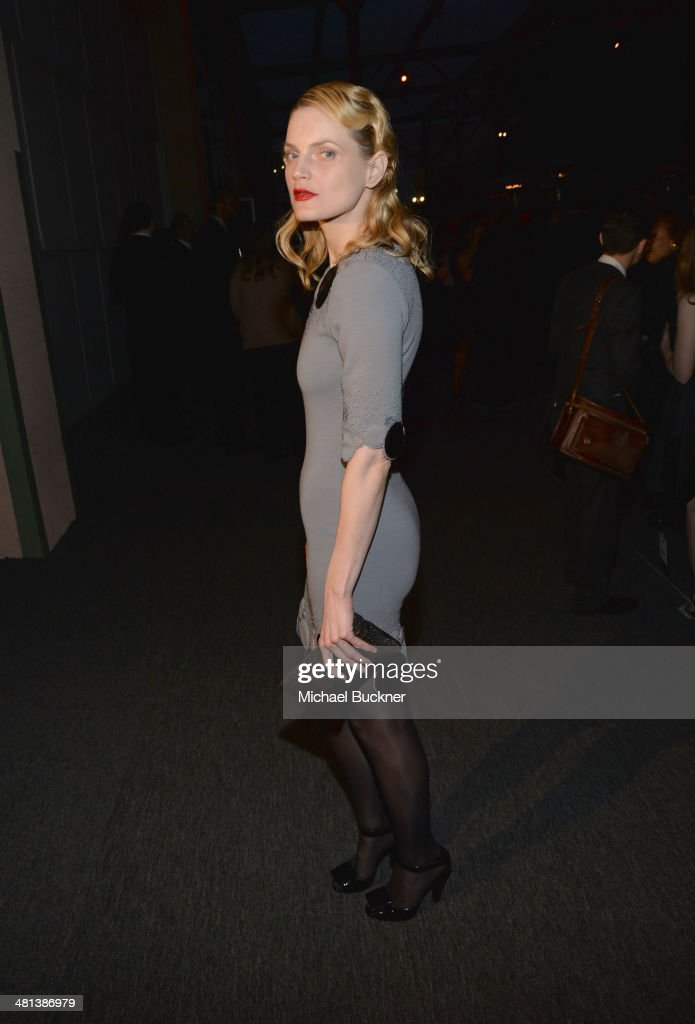 Model <a gi-track='captionPersonalityLinkClicked' href=/galleries/search?phrase=Guinevere+Van+Seenus&family=editorial&specificpeople=2153089 ng-click='$event.stopPropagation()'>Guinevere Van Seenus</a> attends MOCA's 35th Anniversary Gala presented by Louis Vuitton at The Geffen Contemporary at MOCA on March 29, 2014 in Los Angeles, California.