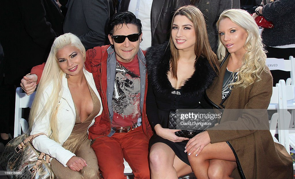 Model Gwendolyn Sweet, actor <a gi-track='captionPersonalityLinkClicked' href=/galleries/search?phrase=Corey+Feldman&family=editorial&specificpeople=175941 ng-click='$event.stopPropagation()'>Corey Feldman</a> and models Courtney Mitchell and Faith Bligh attend the renaming of Grauman's Chinese Theatre to the TCL Chinese Theatre at the Chinese Theatre on January 11, 2013 in Hollywood, California.