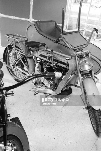 Model H Matchless On Exhibit Motorcycle with Wetherby District sidecar is one of seven now on display at Littleton Historical Museum Credit Denver...