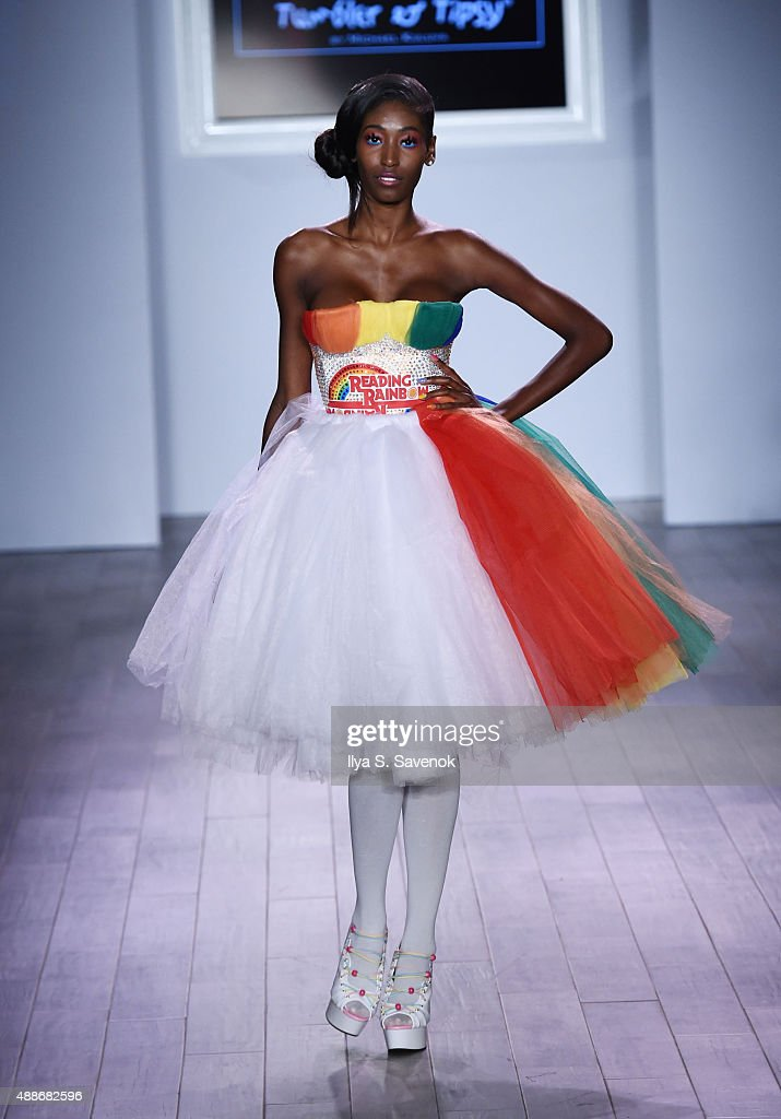 Model Hadassah Richardson walks the runway at the Tumbler And Tipsy By Michael Kuluva fashion show during Style360 Spring 2016 on September 16 2015...