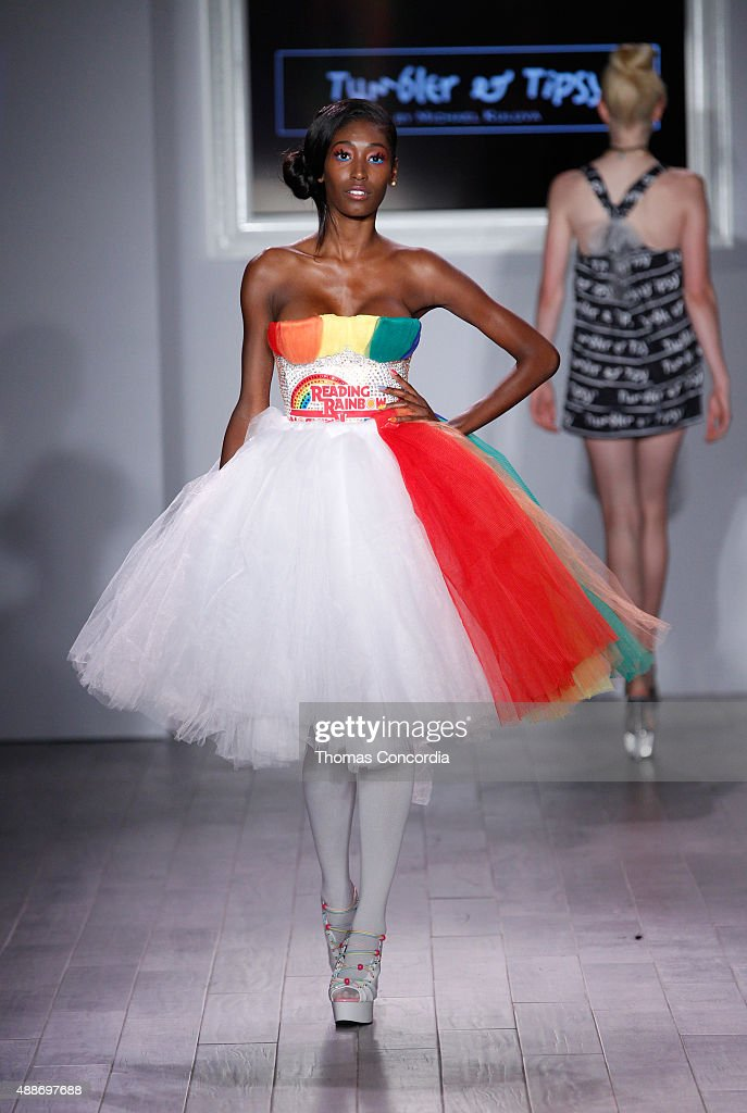 Model Hadassah Richardson walks the runway during KIA STYLE360 hosts Tumbler and Tipsy by Michael Kuluva on September 16 2015 in New York City