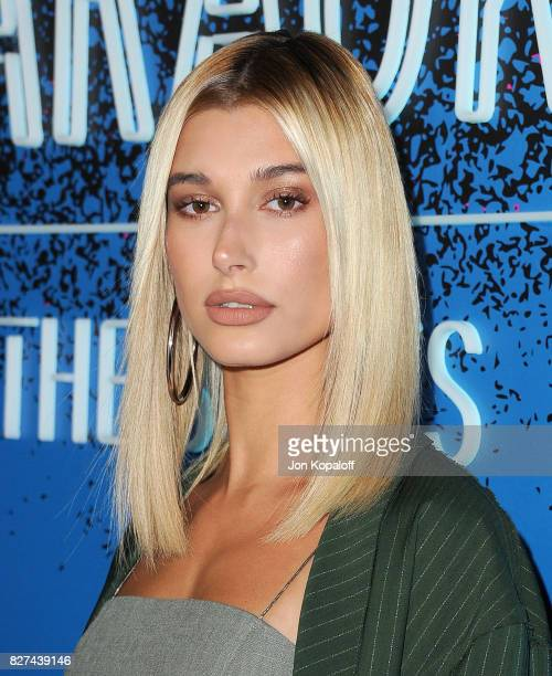 Model Hailey Baldwin arrives at 'Carpool Karaoke The Series' On Apple Music Launch Party at Chateau Marmont on August 7 2017 in Los Angeles California