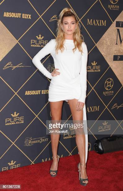 Model Hailey Baldwin arrives at The 2017 MAXIM Hot 100 Party at Hollywood Palladium on June 24 2017 in Los Angeles California