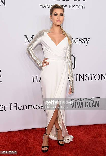 Model Hailey Baldwin attends 2016 amfAR New York Gala at Cipriani Wall Street on February 10 2016 in New York City