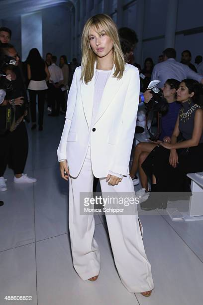 Model Hailey Baldwin attends DKNY Women's Spring 2016 during New York Fashion Week The Shows on September 16 2015 in New York City
