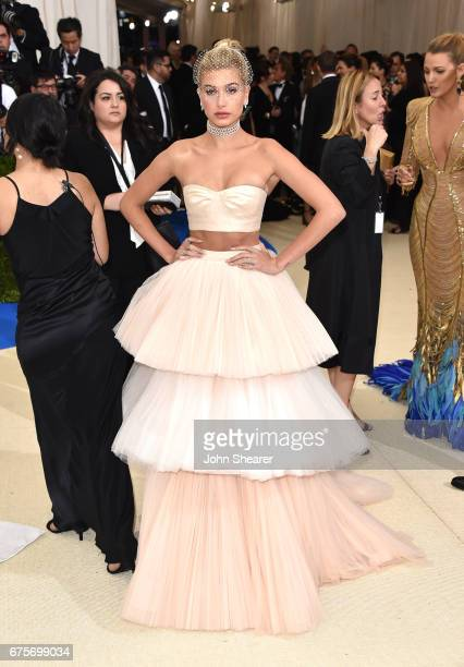 Model Hailey Baldwin attends 'Rei Kawakubo/Comme des Garcons Art Of The InBetween' Costume Institute Gala at Metropolitan Museum of Art on May 1 2017...