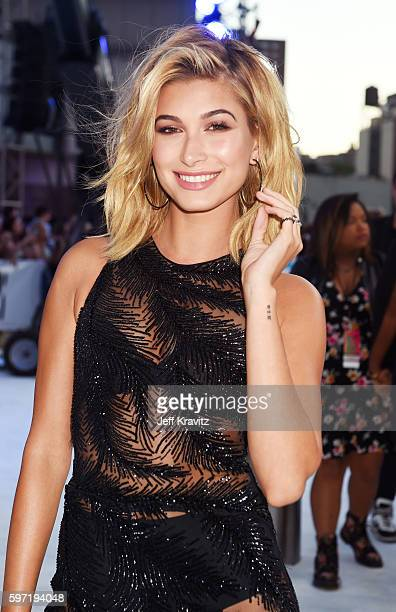 Model Hailey Baldwin attends the 2016 MTV Video Music Awards at Madison Square Garden on August 28 2016 in New York City