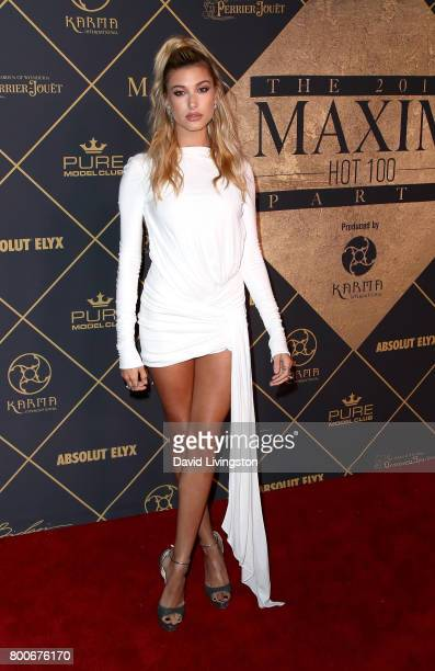 Model Hailey Baldwin attends The 2017 MAXIM Hot 100 Party produced by Karma International at The Hollywood Palladium in celebration of MAXIMÕs Hot...