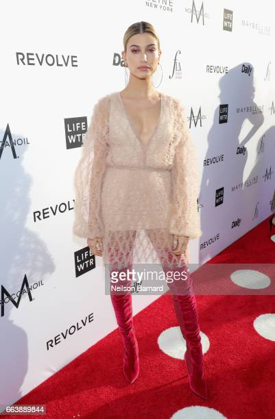 Model Hailey Baldwin attends the Daily Front Row's 3rd Annual Fashion Los Angeles Awards at Sunset Tower Hotel on April 2 2017 in West Hollywood...