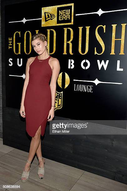 Model Hailey Baldwin attends the New Era Style Lounge at The Battery on February 5 2016 in San Francisco California