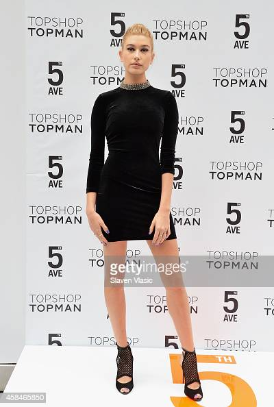 Model Hailey Baldwin attends the Topshop Topman flagship store opening at Topshop Topman Flagship Store on November 5 2014 in New York City