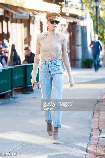 Model Hailey Baldwin is seen in the West Village on September 8 2017 in New York City