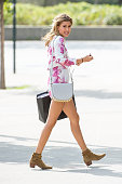 Model Hailey Baldwin seen in Tribeca on August 23 2015 in New York City