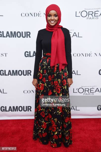 Model Halima Aden attends Glamour's 2017 Women of The Year Awards at Kings Theatre on November 13 2017 in Brooklyn New York