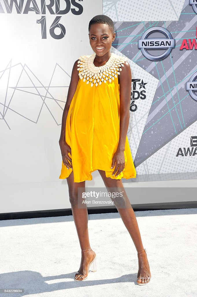 Model Hamamat attends the 2016 BET Awards at Microsoft Theater on June 26, 2016 in Los Angeles, California.