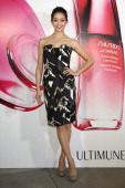 Model Hana Matsushima attends the The ULTIMUNE Evening SHISEIDO ULTIMUNE Launch Party an event to unveil ULTIMUNE Power Infusing Concentrate at ANdAZ...