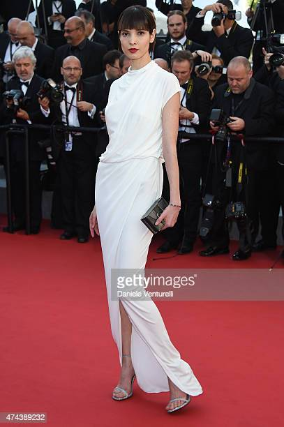 Model Hanaa Ben Abdesslem attends the 'Little Prince' Premiere during the 68th annual Cannes Film Festival on May 22 2015 in Cannes France