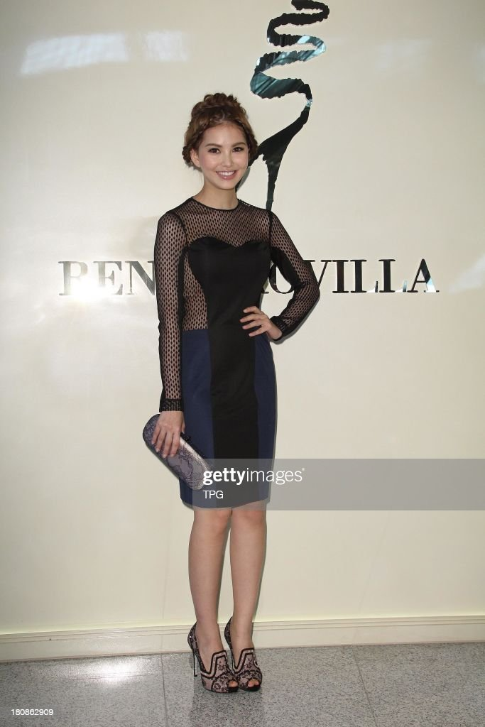 Model Hannah attends commercial activity on Sunday September 15,2013 in Taipei,China.