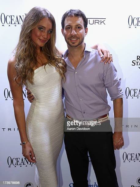 Model Hannah Davis and Ocean Drive Magazine Editor in Chief Jared Shapiro attend the Ocean Drive Magazine Issue Release Party hosted by cover model...