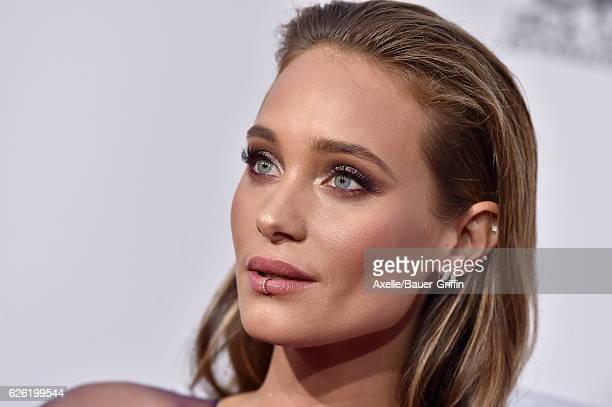 Model Hannah Davis arrives at the 2016 American Music Awards at Microsoft Theater on November 20 2016 in Los Angeles California