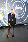 Model Hannah Davis attends Reebok's launch of the revolutionary new ZPump Fusion at Spring Studios on March 4 2015 in New York City