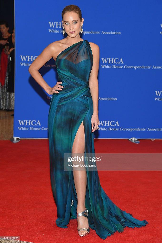 Model Hannah Davis attends the 101st Annual White House Correspondents' Association Dinner at the Washington Hilton on April 25 2015 in Washington DC