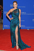 Model Hannah Davis attends the 101st Annual White House Correspondents' Association Dinner at the Washington Hilton on April 25 2015 in Washington DC
