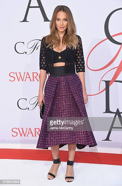 Model Hannah Davis attends the 2015 CFDA Fashion Awards at Alice Tully Hall at Lincoln Center on June 1 2015 in New York City