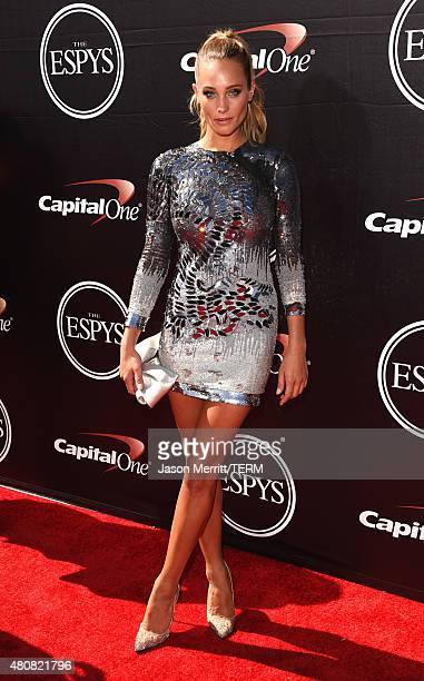 Model Hannah Davis attends The 2015 ESPYS at Microsoft Theater on July 15 2015 in Los Angeles California