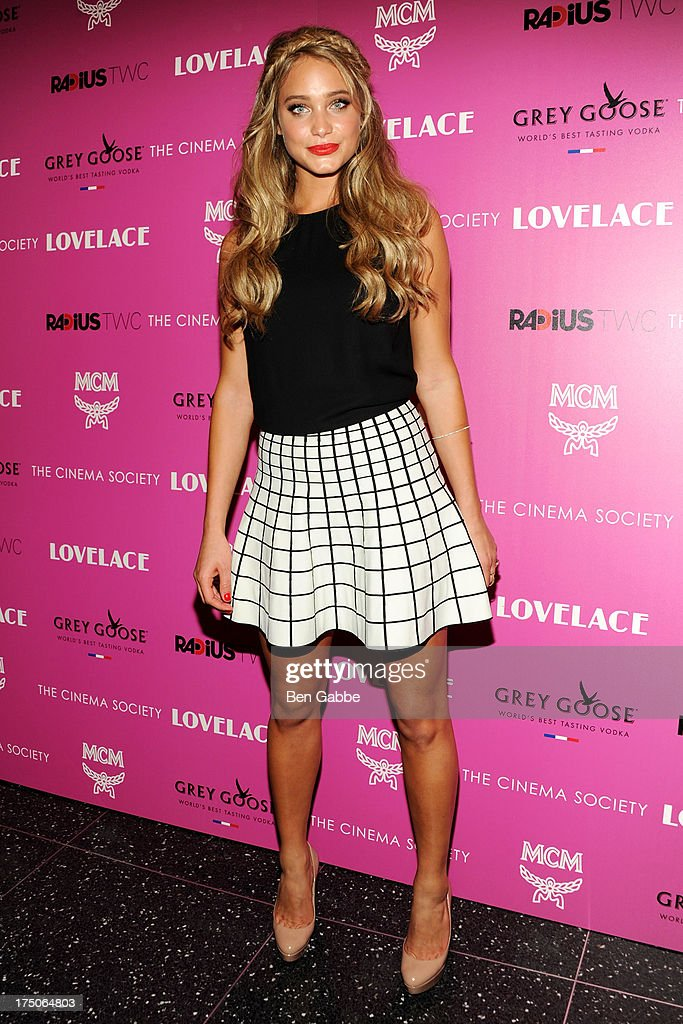 Model Hannah Davis attends The Cinema Society and MCM with Grey Goose host a screening of Radius TWC's 'Lovelace' at The Museum of Modern Art on July 30, 2013 in New York City.