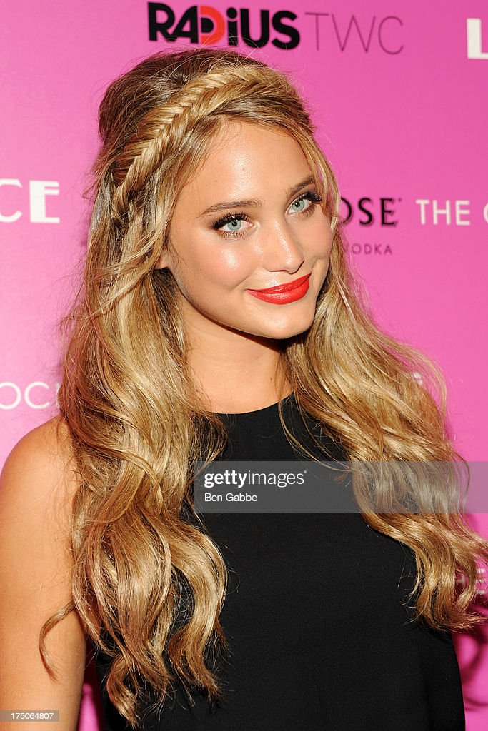 Model <a gi-track='captionPersonalityLinkClicked' href=/galleries/search?phrase=Hannah+Davis+-+Model&family=editorial&specificpeople=11162105 ng-click='$event.stopPropagation()'>Hannah Davis</a> attends The Cinema Society and MCM with Grey Goose host a screening of Radius TWC's 'Lovelace' at The Museum of Modern Art on July 30, 2013 in New York City.