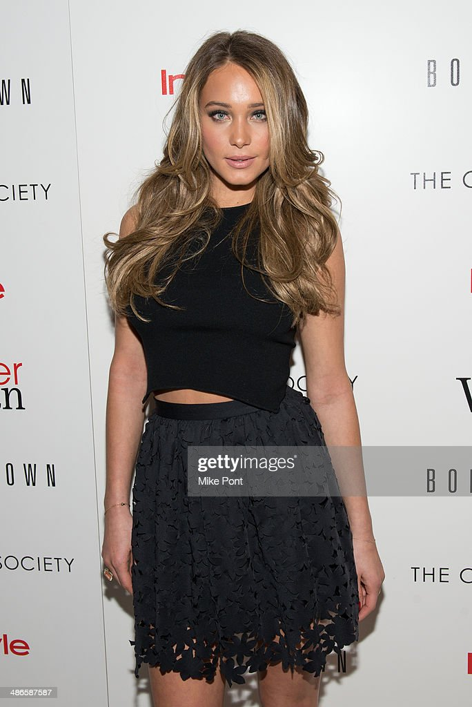 Model Hannah Davis attends The Cinema Society & Bobbi Brown with InStyle screening of 'The Other Woman' at The Paley Center for Media on April 24, 2014 in New York City.