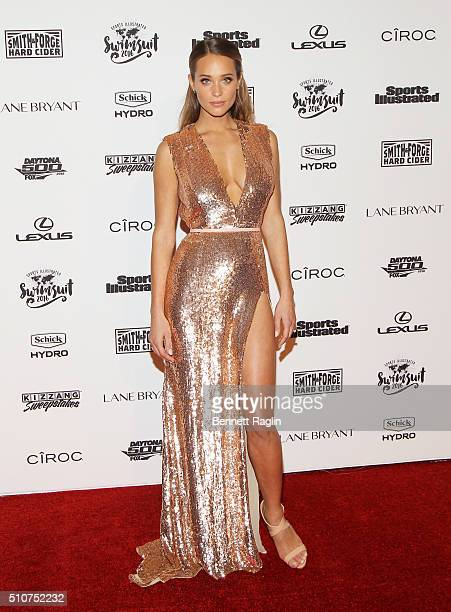 Model Hannah Davis attends the Sports Illustrated Celebrates Swimsuit 2016 at Brookfield Place on February 16 2016 in New York City