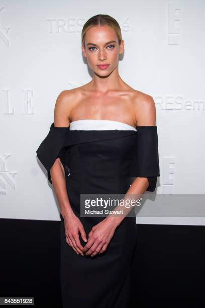 Model Hannah Ferguson attends ELLE E IMG host A Celebration of Personal Style NYFW Kickoff Party on September 6 2017 in New York City