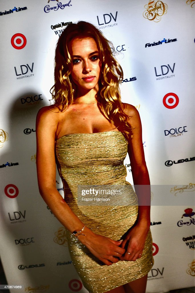 Model Hannah Ferguson attends Sports Illustrated Swimsuit South Beach Soiree at The Gale Hotel on February 20, 2014 in Miami, Florida.