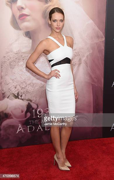 Model Hannah Ferguson attends 'The Age of Adaline' premiere at AMC Loews Lincoln Square 13 theater on April 19 2015 in New York City