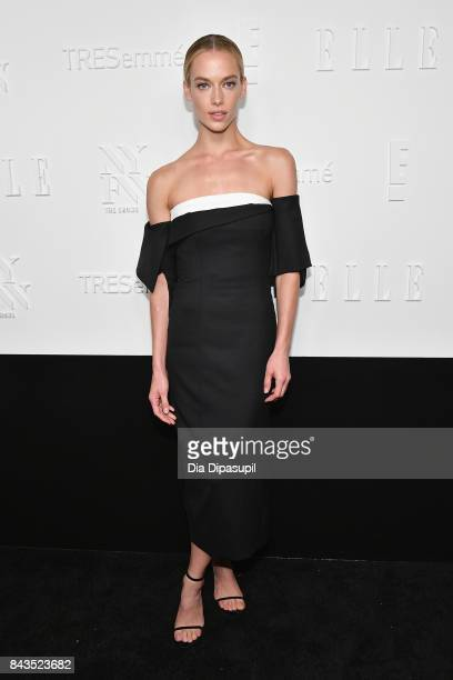 Model Hannah Ferguson attends the NYFW Kickoff Party A Celebration Of Personal Style hosted by E ELLE IMG and sponsored by TRESEMME on September 6...