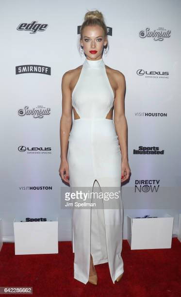Model Hannah Ferguson attends the Sports Illustrated Swimsuit 2017 launch event at Center415 Event Space on February 16 2017 in New York City