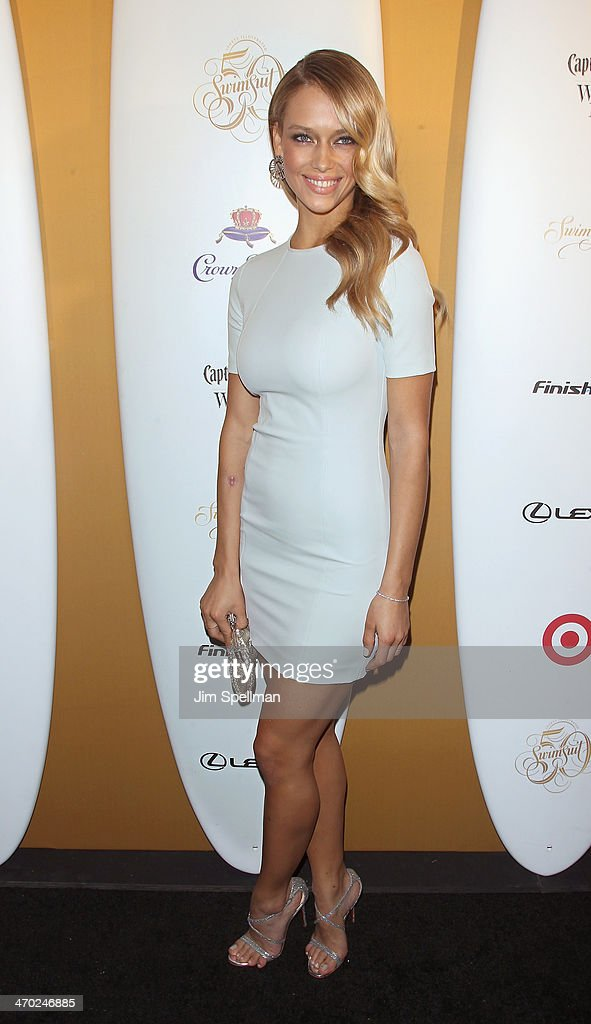 Model Hannah Ferguson attends the Sports Illustrated Swimsuit 50th Anniversary Party at Swimsuit Beach House on February 18 2014 in New York City