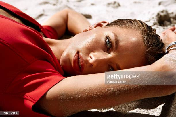 Model Hannah Ferguson is photographed for Ocean Drive Magazine on May 5 2016 in Miami Florida Published Image