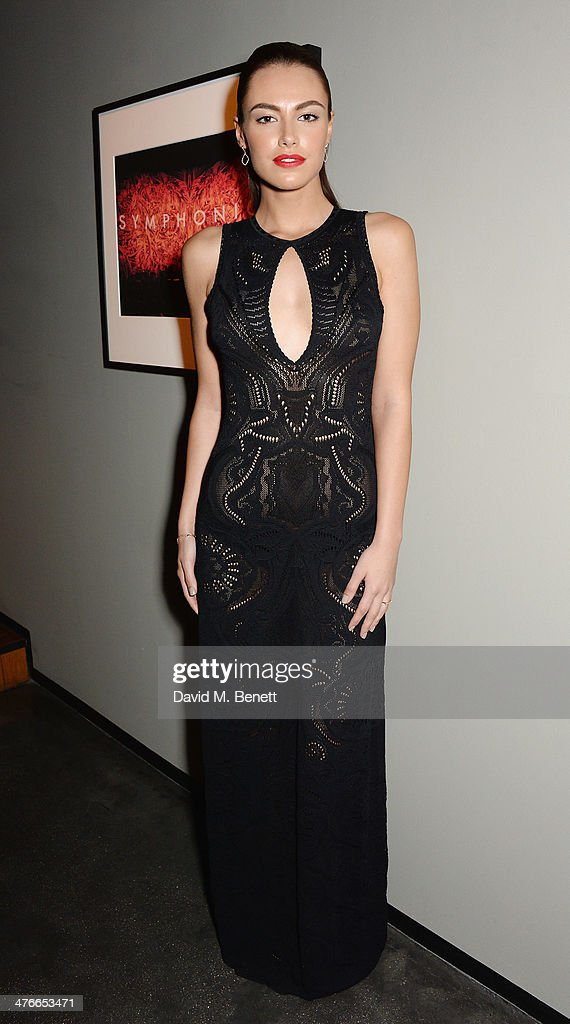 Model Hannah Janes who stars in George Michael's music video for 'Let Her Down Easy' attends 'Symphonica' - George Michael Album Launch Party at Hamiltons Gallery on March 4, 2014 in London, England.