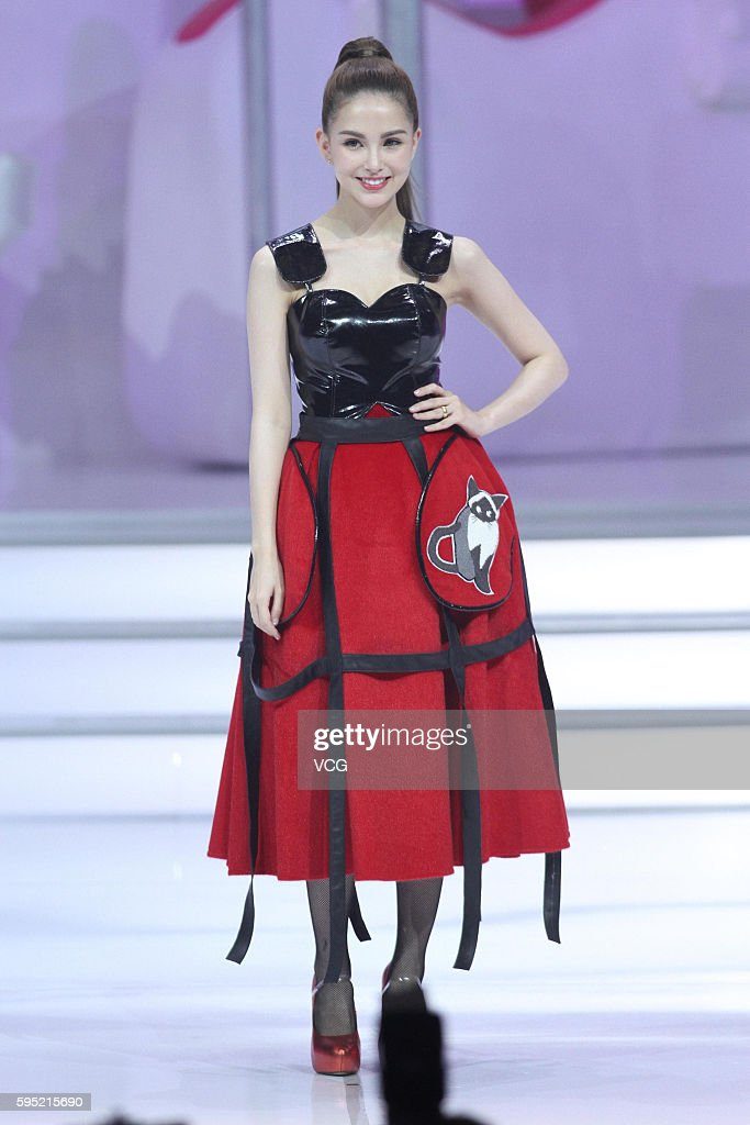 Model Hannah Quinlivan attends the activity of Vipshop Holdings Ltd on August 25 2016 in Beijing China