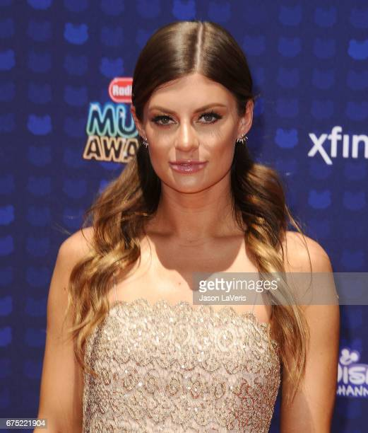 Model Hannah Stocking attends the 2017 Radio Disney Music Awards at Microsoft Theater on April 29 2017 in Los Angeles California