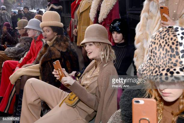 Model Hanne Gaby Odiele at the Marc Jacobs Fall 2017 Show at Park Avenue Armory on February 16 2017 in New York City