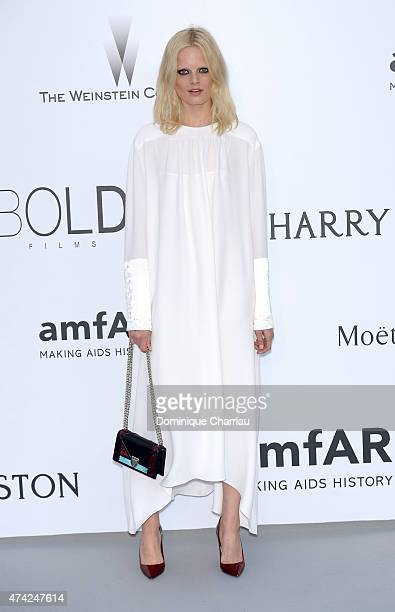 Model Hanne Gaby Odiele attends amfAR's 22nd Cinema Against AIDS Gala Presented By Bold Films And Harry Winston at Hotel du CapEdenRoc on May 21 2015...