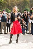 Model Hanne Gaby Odiele exits the Valentino show at the Tuileries on Day 8 of Paris Fashion Week Spring/Summer 2015 on September 30 2014 in Paris...