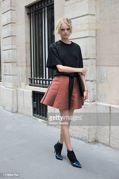 Model Hanne Gaby Odiele on day 2 of Paris Collections Womens Haute Couture on July 02 2013 in Paris France