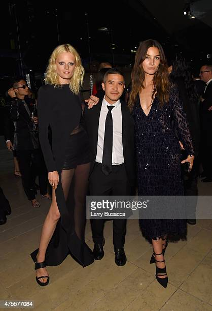 Model Hanne Gaby Odiele Thakoon Panichgul and Lily Aldridge attend the 2015 CFDA Fashion Awards at Alice Tully Hall at Lincoln Center on June 1 2015...